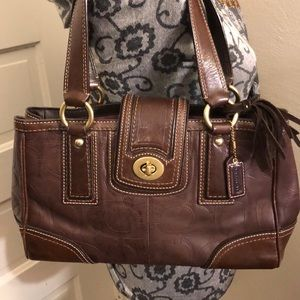 Coach Leather Shoulder Bag Very Good Condition